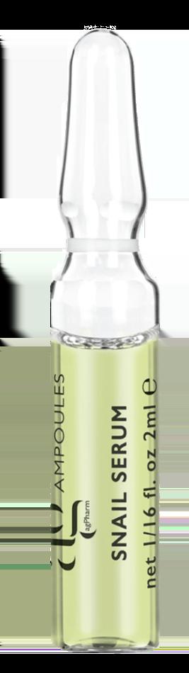 AG Pharm Snail Serum Ορός Άμεσης δράσης με εκχύλισμα απο σάλιο σαλιγκαριού, 1 amp x 2ml