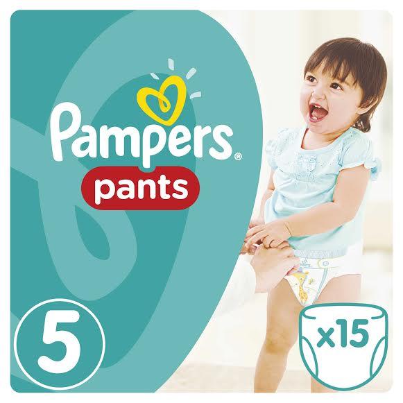 Pampers Pants Carry Pack No.5 (Junior) 12-18 kg Βρεφικές Πάνες Βρακάκι, 15 τεμάχια