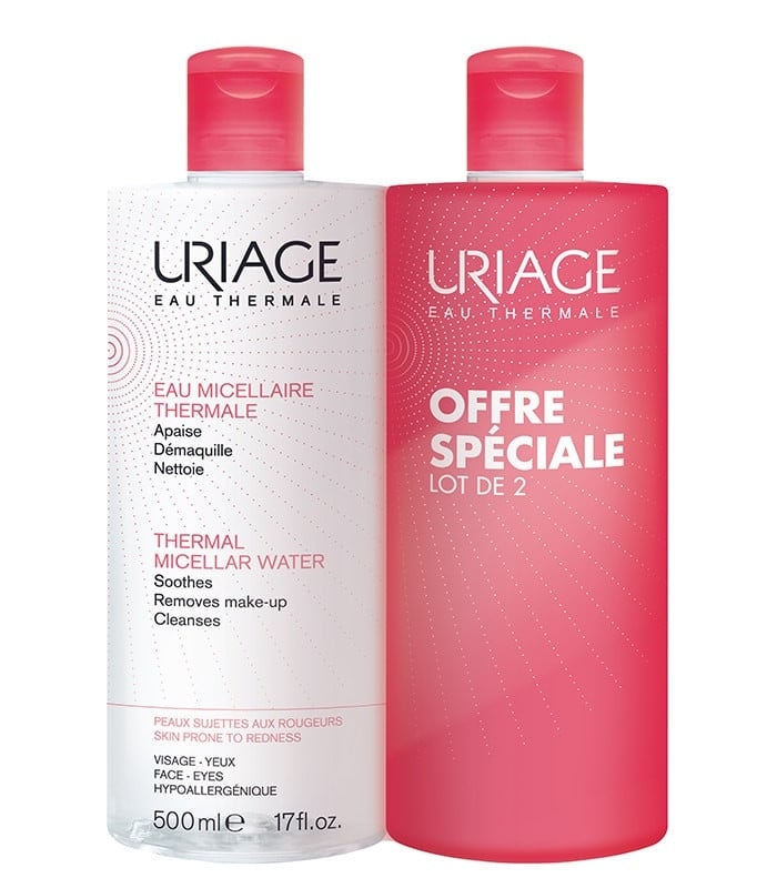 2 x Uriage Eau Micellaire Thermale Sensitive Skin Micellar Water (1+1 ΔΩΡΟ) Νερό Καθαρισμού, 2 x 500ml