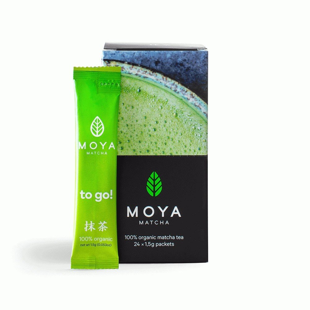 Vican Moya Matcha Organic Japanese Green Tea Traditional To Go Yψηλής Ποιότητας Βιολογικό Τσάι σε Sticks, 12 x 1.5gr