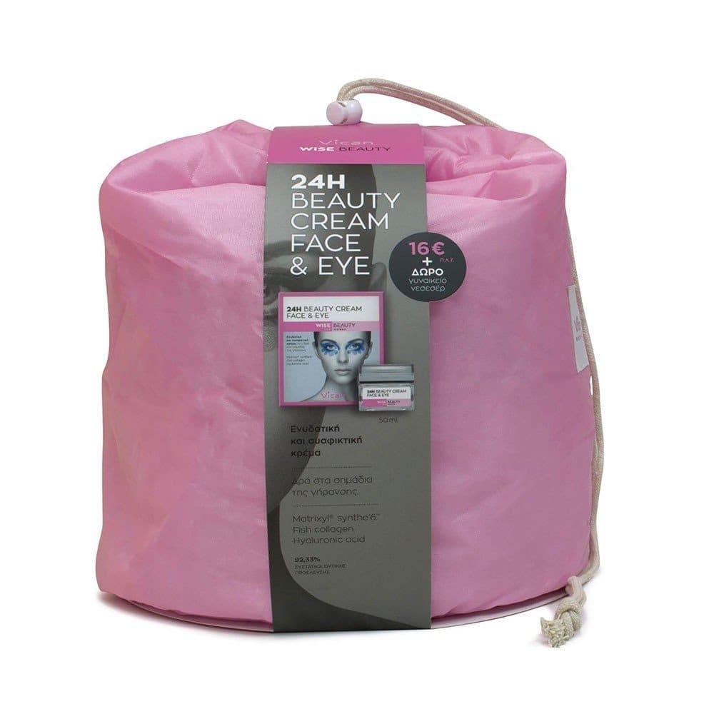 Vican Wise Beauty Gift Pack με 24H Beauty Cream face & eye, 50ml & ΔΩΡΟ ΝΕΣΣΕΣΕΡ
