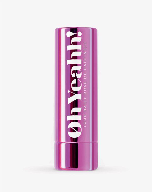 Oh Yeahh! Happy Lip Balm Violet SPF15 Ενυδατικό balm χειλιών που βοηθά παράλληλα στην αύξηση της καλής διάθεσης, απόχρωση Violet, 4.2gr