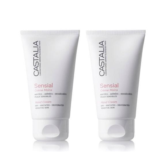 Castalia Sensial Creme Mains PROMO PACK Hand Cream Ενυδατική Μαλακτική Κρέμα Χεριών, 2 x 75ml